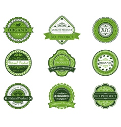 Bio and ecological labels set vector