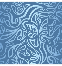 Seamless frost hand-drawn pattern with gradient vector