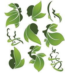 Eco health and beauty vector