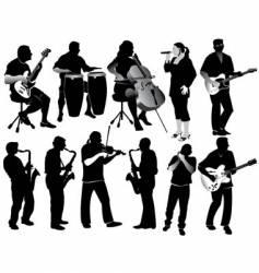 Music silos vector