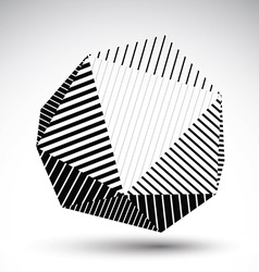 Symmetric spherical 3d technology futuristi vector
