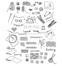 Hand made and needlework set vector