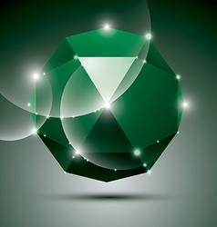 Party 3d green shiny disco ball fractal dazzling vector
