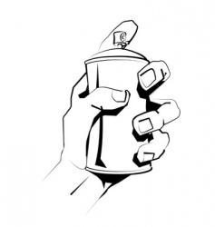 Grafitti spray can vector