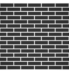 Black brick wall seamless pattern simple building vector