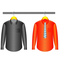 Shirts with hanger vector