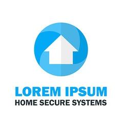 Blue house logo vector