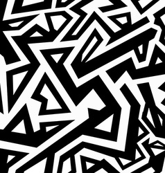 Monochrome aztec seamless pattern vector