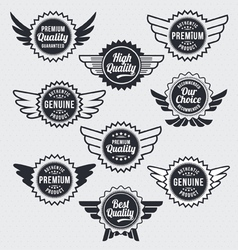Retro vintage label badge set vector