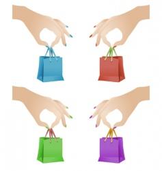 Gift bags vector
