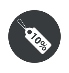 Monochrome round discount icon vector