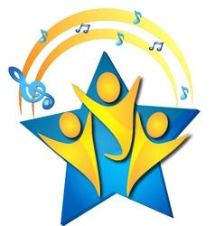 Teamwork singers logo vector