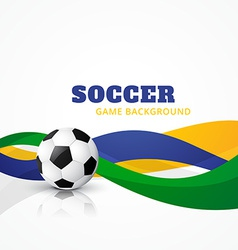 Creative soccer background vector