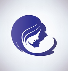 Mother and her baby isolated symbol vector