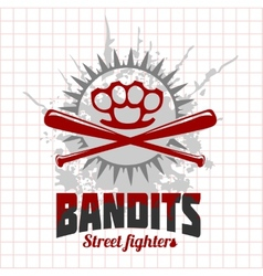 Bandits and hooligans - emblem of criminal vector
