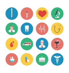 Flat icons set of medical equipment vector