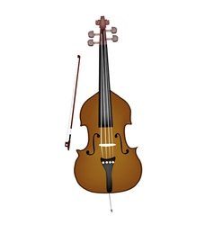A beautiful double bass on white background vector