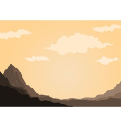 Mountain of rock vector