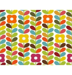 Bright flowers pattern vector