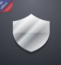 Shield protection icon symbol 3d style trendy vector