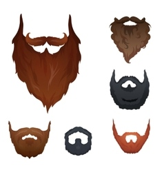 Set of beards vector