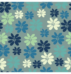 Seamless background with small flowers vector