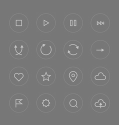 Interface pictograms collection vector