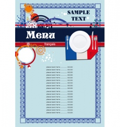 French menu vector