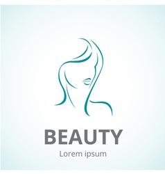 Sign of a woman face logo template vector