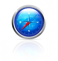 Glossy compass vector