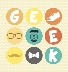 Hipster retro geek vector