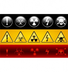 Danger signs vector