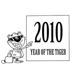 Year of the tiger cartoon vector