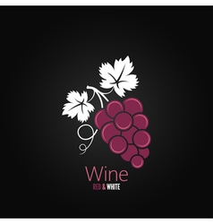 Wine grapes design background vector