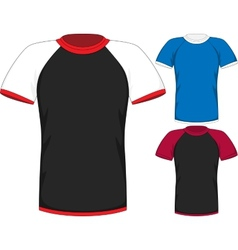 Mens short sleeve t-shirt design templates vector