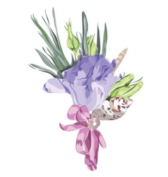 Watercolor wedding flowers vector