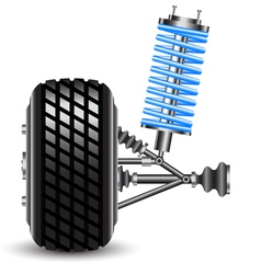 Car suspension frontal view vector