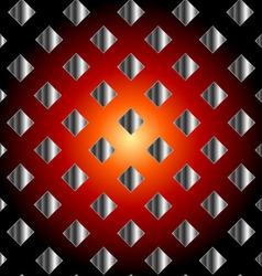 Silver metallic grid background vector