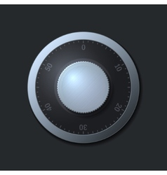 Combination lock wheel on dark background vector