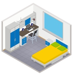 Isometric children room icon vector