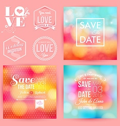 Save the date for personal holiday cards wedding vector