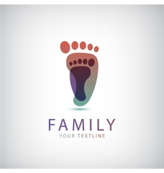 Family 2 footprints icon vector