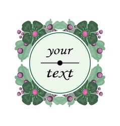 Flower label with space for text vector