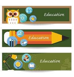 School education banner vector