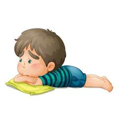 Sad little boy vector