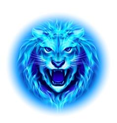 Head of fire lion vector