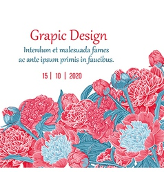 Floral invitation greeting card vector