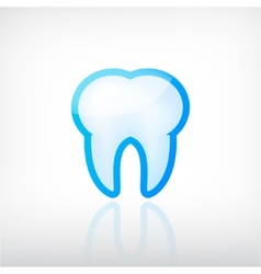 Tooth dental icon vector