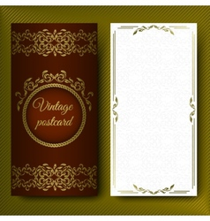 Elegant pattern luxurious card with lace vector