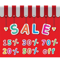 Big sale tag vector